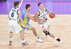 Volodymyr Koniev of Ukraine vs Vlatko Cancar of Slovenia during basketball match between National Teams of Slovenia and Ukraine at Day 10 in Round of 16 of the FIBA EuroBasket 2017 at Sinan Erdem Dome in Istanbul, Turkey on September 9, 2017. Photo by Vid Ponikvar / Sportida