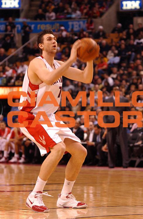 DESCRIZIONE : Toronto Campionato NBA 2007-2008 Toronto Raptors Minnesota Timberwolves<br /> GIOCATORE : Andrea Bargnani<br /> SQUADRA : Toronto Raptors Minnesota Timberwolves<br /> EVENTO : Campionato NBA 2007-2008 <br /> GARA : Toronto Raptors Minnesota Timberwolves<br /> DATA : 27/02/2008 <br /> CATEGORIA :<br /> SPORT : Pallacanestro <br /> AUTORE : Agenzia Ciamillo-Castoria/V.Keslassy<br /> Galleria : NBA 2007-2008 <br /> Fotonotizia : Toronto Campionato NBA 2007-2008 Toronto Raptors Minnesota Timberwolves<br /> Predefinita :