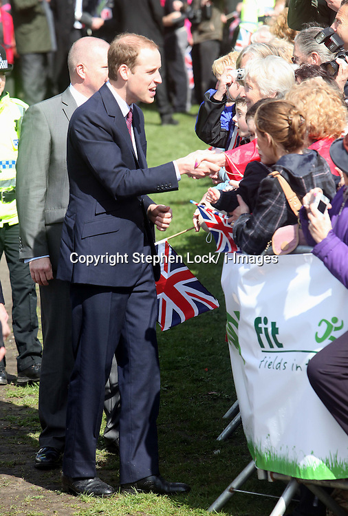 Prince William  at Witton Country Park in Blackburn, Lancashire . Photo by: Stephen Lock / i-Images