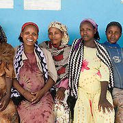 Ethiopia 2008  Gemeto Kebele village. pregnant women wait for antenatal care