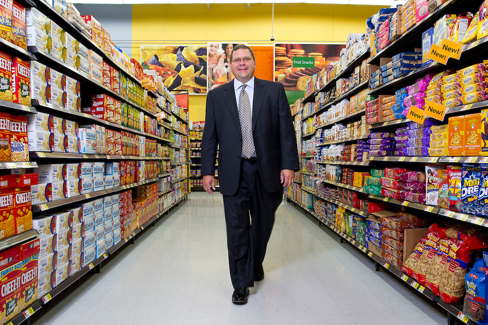 Duncan MacNaughton - CMO of Walmart..Photographed at Walmart store in Bentonville, Arkansas.for Harvard Business Review Group and Getty