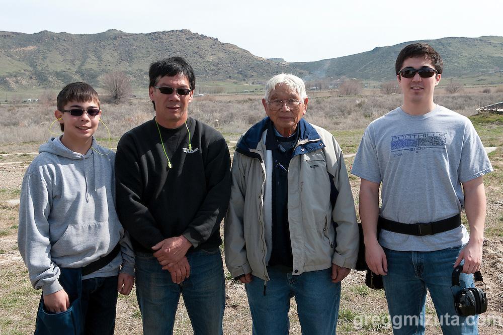 The Malheur Gun Club trap shoot at the Vale airport, Vale, Oregon, March 16, 2014.