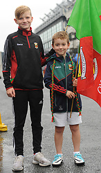 Ethan and Kyle Kenny From Charlestown Mayo at the All Ireland Semi Final against Kerry at Croke Park.<br /> Pic Conor McKeown