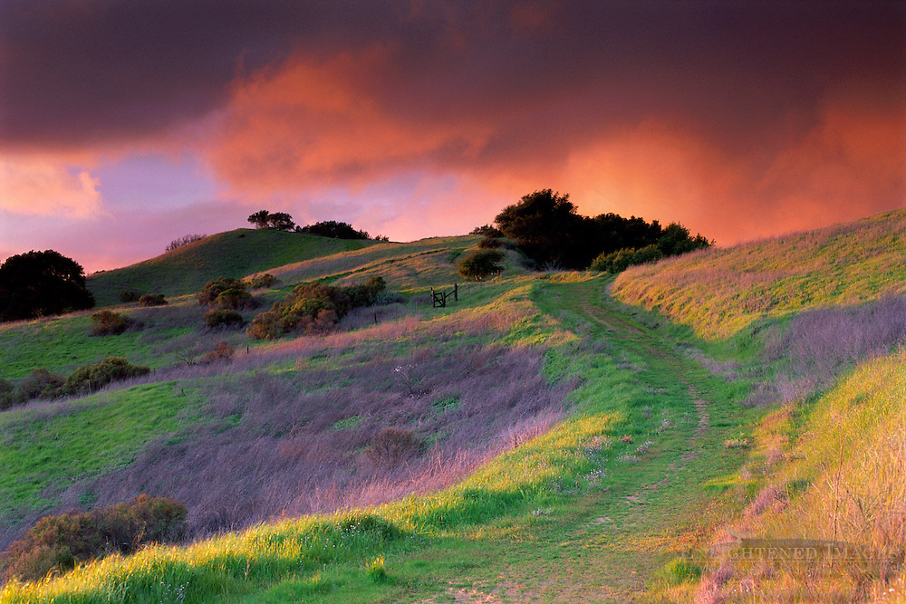 Stormy sunset in the hills above Lafayette Contra Costa County, CALIFORNIA