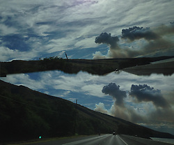 Cane Factory Exhaust Clouds on the Road to Wailea, Maui, Hawaii, US