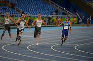 Jarryd Wallace places 2nd in 100m T44 prelim, 17.52, Track & Field