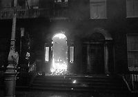 The British Embassy on Merrion Square  which was set ablaze in the protests following Bloody Sunday. February 1972. (Part of the Independent Newspapers/NLI Collection)