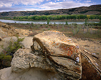 Sandstone rocks, Upper Missouri River Breaks National Monument, Montana USA