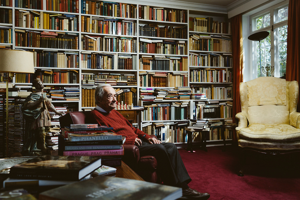 The Academic Dr. George Steiner at his home in Cambridge, England. 6th May 2013