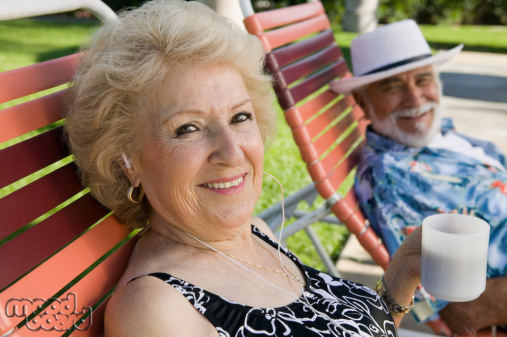 Senior Couple in Lawn Chair