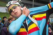 BELGIUM / ZOLDER / CYCLING / WIELRENNEN / CYCLISME / CYCLOCROSS / CYCLO-CROSS / VELDRIJDEN / WERELDBEKER / WORLD CUP / COUPE DU MONDE / U23 / AANKOMST / FINISH / ARRIVEE / ZIEL / TIM MERLIER (BEL) /