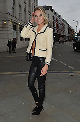 Kimberley Garner attends the Barrus Show at Fashion Scout during London Fashion Week Autumn/Winter 2016/17 at Freemasons' Hall in London, UK. 19/02/2016<br />BYLINE MUST READ : GOTCHAIMAGES.COM<br /><br />Copyright by © Gotcha Images Ltd. All rights reserved.<br />Usage of this image is conditional upon the acceptance <br />of Gotcha Images Ltd, terms and conditions available at<br />www.gotchaimages.com