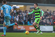 Forest Green Rovers Lee Collins(5) runs forward during the EFL Sky Bet League 2 match between Forest Green Rovers and Coventry City at the New Lawn, Forest Green, United Kingdom on 3 February 2018. Picture by Shane Healey.