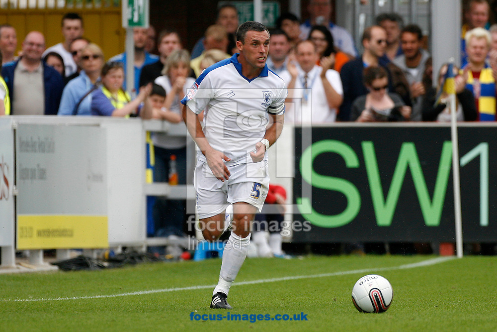 Picture by Daniel Chesterton/Focus Images Ltd. 07966 018899.6/8/11.Jamie Stuart of AFC Wimbledon during the NPower League 2 match at The Cherry Red Records Fans' stadium, Kingston Upon Thames, Surrey.