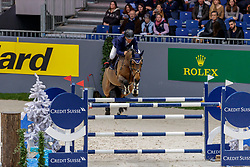 DESEUZES Nicolas (FRA), Stella de Preuilly<br /> Genf - CHI Geneve Rolex Grand Slam 2019<br /> Prix des Communes Genevoises<br /> 2-Phasen-Springen<br /> International Jumping Competition 1m50<br /> Two Phases: A + A, Both Phases Against the Clock<br /> 13. Dezember 2019<br /> © www.sportfotos-lafrentz.de/Stefan Lafrentz
