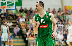 Domen Lorbek of Petrol Olimpija during basketball match between KK Krka Novo mesto and  KK Petrol Olimpija in 4th Final game of Liga Nova KBM za prvaka 2017/18, on May 27, 2018 in Sports hall Leona Stuklja, Novo mesto, Slovenia. Photo by Vid Ponikvar / Sportida