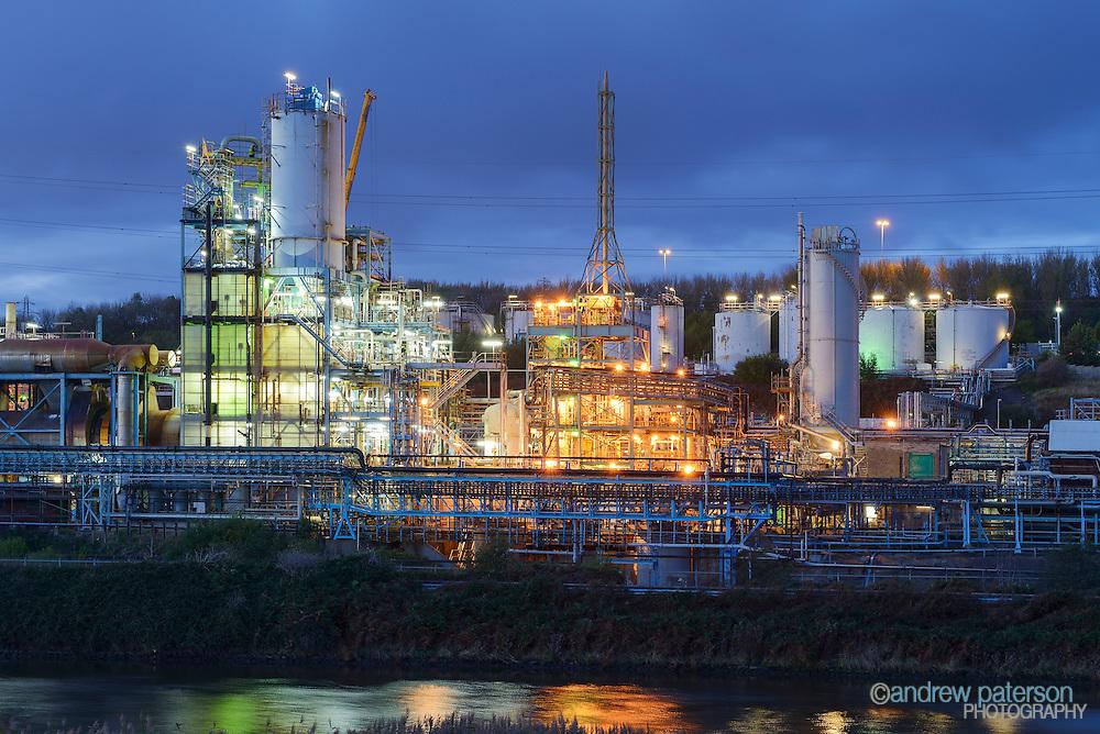 The Weston Point industrial complex in Runcorn