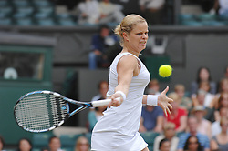 Belgium's Kim Clijsters defeated by Belgium's Justine Henin-Hardenne, 6-4, 7-6, in their semi-final of the All England Lawn Tennis Championships at Wimbledon in London, UK on July 6, 2006. Photo by Corinne Dubreuil/Cameleon/ABACAPRESS.COM
