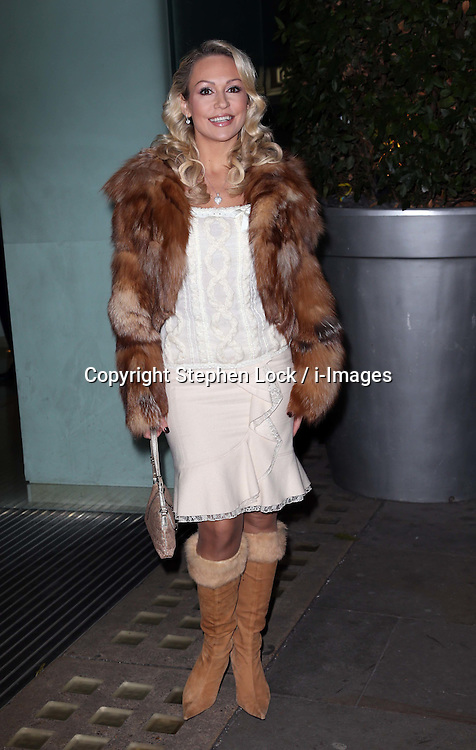 Kristina Rihanoff  arriving at the English National Ballet party to celebrate their Christmas production of The Nutcracker, in London , Thursday, December 13th 2012.  Photo by: Stephen Lock / i-Images