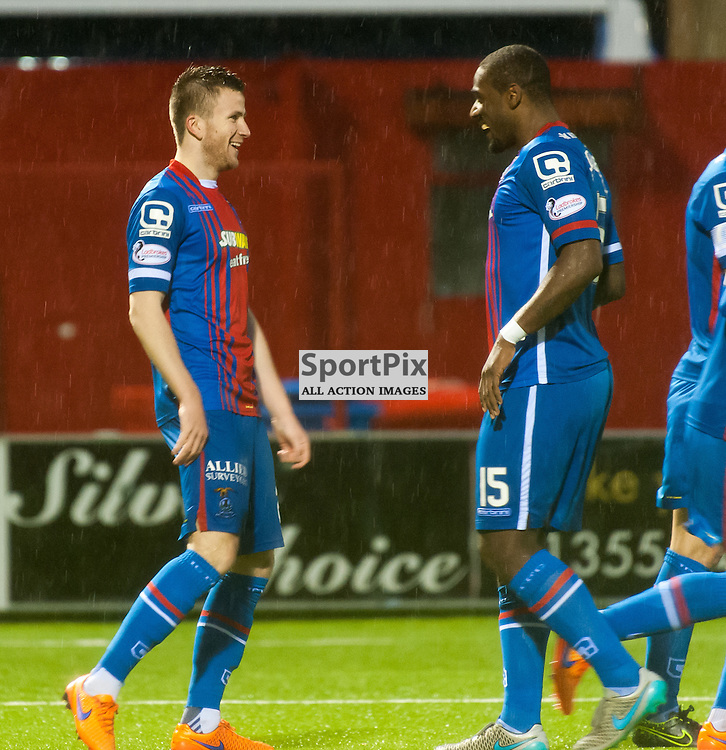 #20 Liam Polworth (Inverness Caledonian Thistle) and #15 Nat Wedderburn (Inverness Caledonian Thistle) celebrate • Hamilton Academical v Inverness Caledonian Thistle • SPFL Premiership • 30 December 2015 • © Russel Hutcheson | SportPix.org.uk