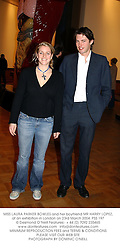 MISS LAURA PARKER BOWLES and her boyfriend MR HARRY LOPEZ, at an exhibition in London on 23rd March 2004.PSS 197