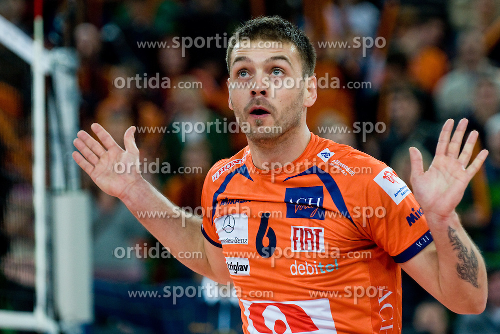 Vlado Petkovic of ACH Volley during volleyball match between ACH Volley (SLO) and Jastrzebski Wegiel (POL) in 6th Round of 2011 CEV Champions League, on January 12, 2011 in Arena Stozice, Ljubljana, Slovenia. (Photo By Matic Klansek Velej / Sportida.com)
