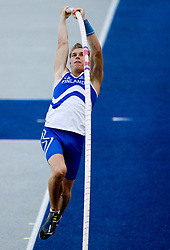 Eemeli Salomaki of Finland competes in the men's pole vault qualifying event  during day six of the 12th IAAF World Athletics Championships at the Olympic Stadium on August 20, 2009 in Berlin, Germany. (Photo by Vid Ponikvar / Sportida)