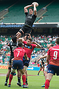 Twickenham, United Kingdom. 2nd June 2018, HSBC London Sevens Series. Game 5 Pool A, Sam DICKSON, catches the line out ball during the New Zealand vs Scotland, Rugby match, playrd at  the  RFU Stadium, Twickenham, England, <br /> <br /> <br /> <br /> © Peter SPURRIER/Alamy Live News