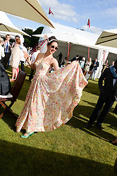OONA CHAPLIN at the 2013 Cartier Queens Cup Polo at Guards Polo Club, Berkshire on 16th June 2013.