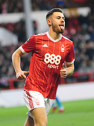 BEN BRERETON NOTTINGHAM FOREST CELEBRATES AFTER SCORING FORESTS 3RD GOAL FROM THE PENALTY SPOT,  Nottingham Forest v Arsenal Emirates FA Cup Third Round, City Ground Sunday 7th January 2018
