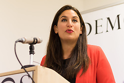 © Licensed to London News Pictures. 15/01/2015. London, UK. Shadow Health Secretary, Andy Burnham and Shadow Public Health Minister, Luciana Berger launch Labour's public health strategy for the general election at a speech today at Demos in London. Photo credit : Vickie Flores/LNP