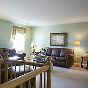 CREAM RIDGE, NJ - OCTOBER 29, 2016: The master suite on the second floor has a separate living area with stairs to the eat-in-kitchen. 92 Holmes Mill Rd, Cream Ridge, NJ. Credit: Albert Yee for the New York Times