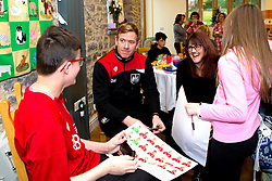 Bristol City Assistant Head Coach Dean Holden chats to children duringBristol City's visit to the Children's Hospice South West at Charlton Farm - Mandatory by-line: Robbie Stephenson/JMP - 21/12/2016 - FOOTBALL - Children's Hospice South West - Bristol , England - Bristol City Children's Hospice Visit