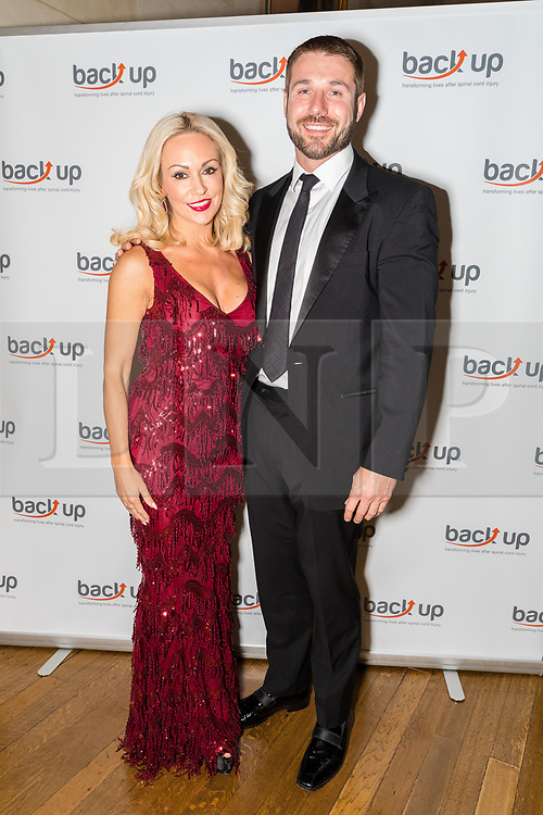 © Licensed to London News Pictures. 04/05/2017. LONDON, UK.  KRISTINA RIHANOFF and her partner, BEN COHEN attend The City Dinner fundraising event for the charity, 'Back Up Trust' at the Marchant Taylor's Hall. 'Back Up Trust' work to inspire independence in people affected by spinal cord injury and help them get the most from their lives, working with people of all ages, from young children to the elderly.  Photo credit: Vickie Flores/LNP