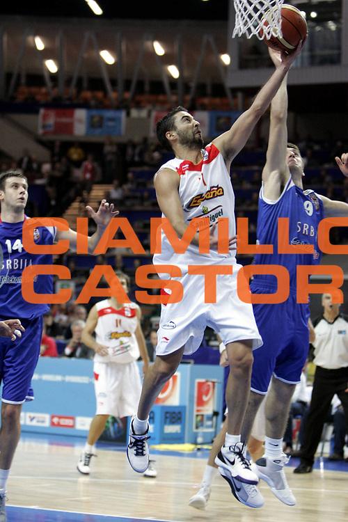 DESCRIZIONE : Katowice Poland Polonia Eurobasket Men 2009 Finale 1 2 posto Final 1st 2nd place Spagna Spain Serbia<br /> GIOCATORE : Juan Carlos Navarro<br /> SQUADRA : Spagna Spain<br /> EVENTO : Eurobasket Men 2009<br /> GARA : Spagna Spain Serbia<br /> DATA : 20/09/2009 <br /> CATEGORIA :<br /> SPORT : Pallacanestro <br /> AUTORE : Agenzia Ciamillo-Castoria/H.Bellenger<br /> Galleria : Eurobasket Men 2009 <br /> Fotonotizia : Katowice  Poland Polonia Eurobasket Men 2009 Finale 1 2 posto Final 1st 2nd place Spagna Spain Serbia<br /> Predefinita :
