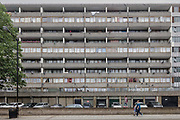 London, England, UK, May 31 2018 - Aylesbury Estate,  a housing estate in Walworth, South East London, was once the largest estate in Europe. It is currently undergoing a major regeneration programme by demolishing and replacing of the dwellings with modern houses controlled by a housing association. Some residents and activists still protest against the demolition and the gentrification of London.<br /> London is facing a major housing crisis, due to rising cost and under-supply.