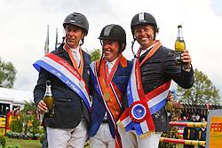 Podium Senioren<br /> Schroder Gerco, Van der Vleuten Eric, Munsterhuis Jochen<br /> Nederlands Kampioenschap CH Mierlo 2010<br /> © Hippo Foto - Leanjo de Koster