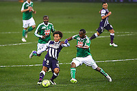 Martin Braithwaite / Kevin Theophile Catherine - 28.02.2015 - Toulouse / Saint Etienne - 27eme journee de Ligue 1 -<br />