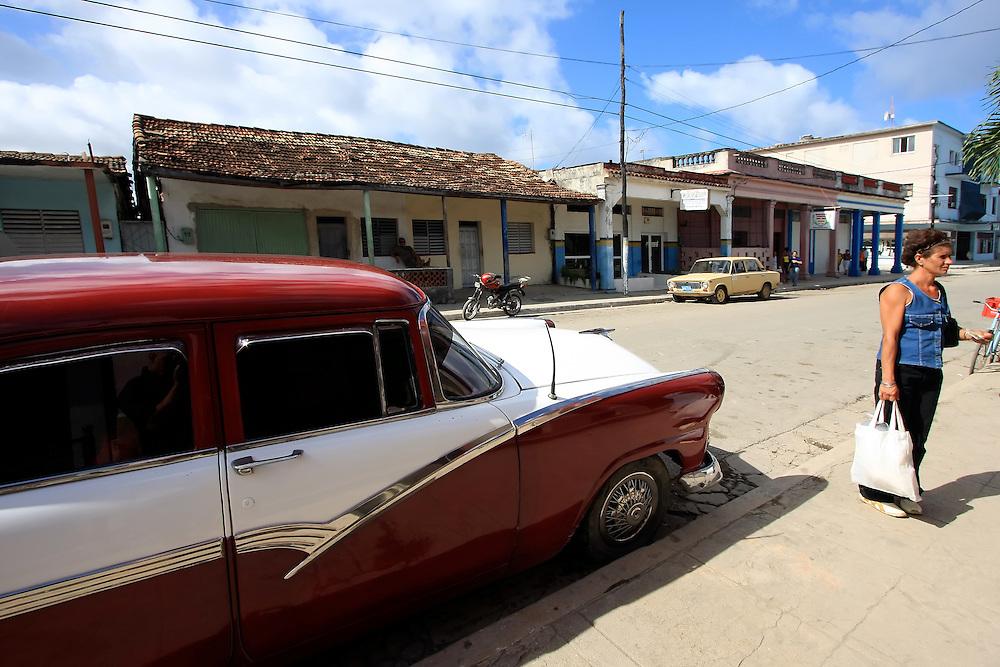 Car in Santa Cruz del Norte, Mayabeque Province, Cuba.