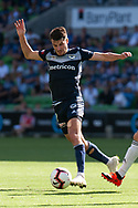 MELBOURNE, VIC - JANUARY 20: Melbourne Victory midfielder Terry Antonis (8) controls the ball during the Hyundai A-League Round 14 soccer match between Melbourne Victory and Wellington Phoenix at AAMI Park in VIC, Australia on 20th January 2019. Image by (Speed Media/Icon Sportswire)