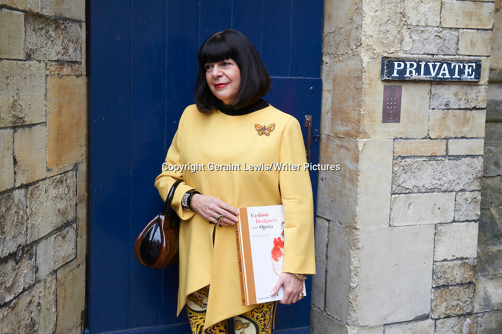 Helena Matheopoulos, former Fashion Editor at Tatler and author of several books on design in  Opera and writer at The Oxford Literary Festival at Christchurch College Oxford. Taken 30th March 2012<br /> <br /> Credit Geraint Lewis/Writer Pictures<br /> <br /> WORLD RIGHTS