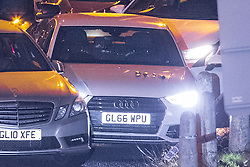 © Licensed to London News Pictures. 03/01/2017. Huddersfield, UK. A bullet riddled silver Audi car at the slip road at Junction 24 of the M62 motorway in Huddersfield . West Yorkshire police have announced a man has died following the discharge of a police firearm , during what they describe as a pre-planned operation , yesterday evening (2nd January 2017) . Photo credit : Joel Goodman/LNP