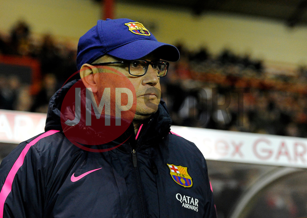 FC Barcelona's Manager,Xavier Llorens  - Photo mandatory by-line: Joe Meredith/JMP - Mobile: 07966 386802 - 13/11/2014 - SPORT - Football - Bristol - Ashton Gate - Bristol Academy Womens FC v FC Barcelona - Women's Champions League