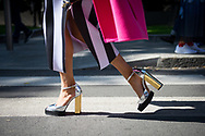 Metallic Shoes Outside Armani SS2018