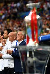 France Manager Didier Deschamps looks on behind the Henri Delaunay Trophy - Mandatory by-line: Joe Meredith/JMP - 10/07/2016 - FOOTBALL - Stade de France - Saint-Denis, France - Portugal v France - UEFA European Championship Final