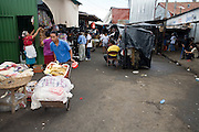 08 JANUARY 2007 - MANAGUA, NICARAGUA:  A street scene in the Mercado Oriental, the main market that serves Managua, Nicaragua. The market encompasses dozens of square blocks and is the largest market in Central America. Many people in Nicaragua shop every day because they don't have refrigeration in their homes and the market is a beehive of activity.     PHOTO BY JACK KURTZ