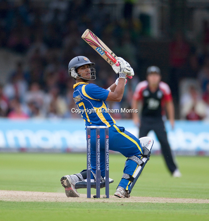 Dinesh Chandimal bats during the third one day international between England and Sri Lanka at Lord's, London. Photo: Graham Morris (Tel: +44(0)20 8969 4192 Email: sales@cricketpix.com) 03/07/11