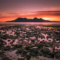 The Isle of Rum from Laig Bay, Isle of Eigg