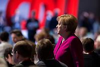 26 FEB 2018, BERLIN/GERMANY:<br /> Angela Merkel, CDU, Bundeskanzlerin, in den Reihen der Delegierten aus Mecklenburg-Vorpommern, CDU Bundesparteitag, Station Berlin<br /> IMAGE: 20180226-01-141<br /> KEYWORDS: Party Congress, Parteitag