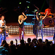"WASHINGTON, DC - February 14th  2013 - Jimi Westbrook, Kimberly Schlapman, Karen Fairchild and Phillip Sweet of Little Big Town perform at the 9:30 Club in Washington, D.C. The band's 2012 album, ""Tornado,"" contains the hit single ""Pontoon,"" which recently won Best Country Duo/Group Performance at the 55th Grammy Awards. (Photo by Kyle Gustafson/For The Washington Post)"